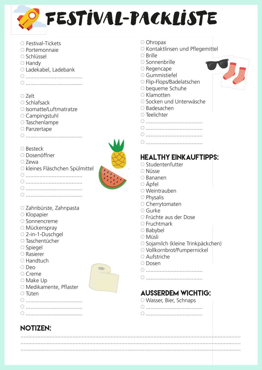 Festival-Packliste-gesunde-Ernährung-auf-einem-Festival-Tipps