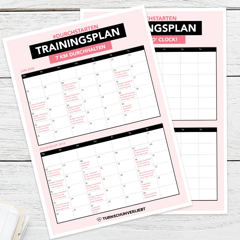 Trainingsplan laufen anfangen